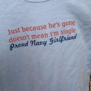 Tops - Navy Girlfriend T-Shirt